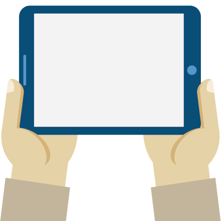 Picture of two hands holding a tablet